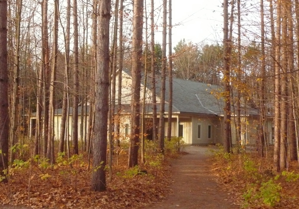 Meditation Hall in autumn