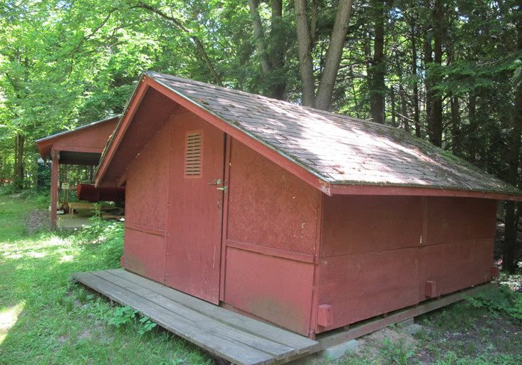 Exterior view of a summer cabin