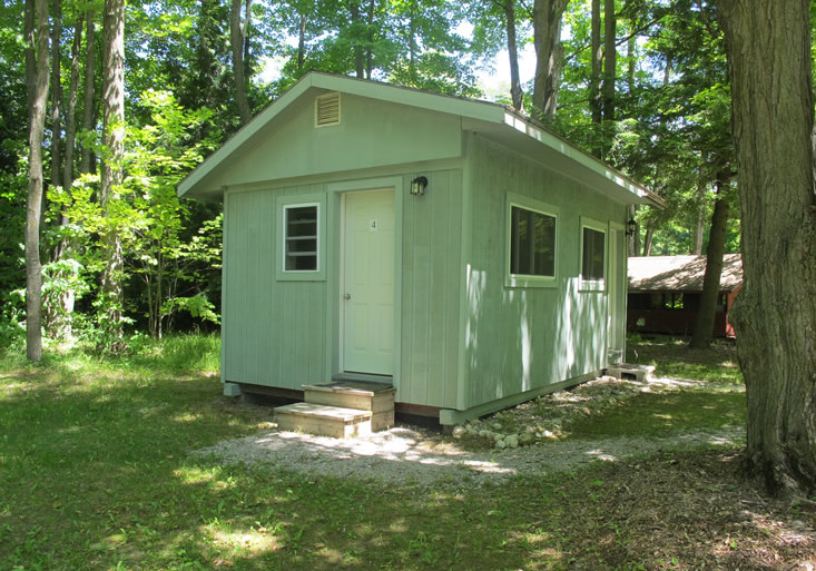 Exterior view of a cabin